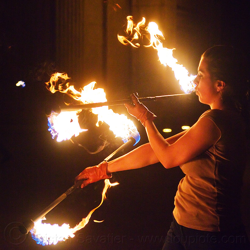 spinning double fire staff, double staff, fire dancer, fire dancing, fire performer, fire spinning, fire staffs, fire staves, flame, night, savanna, spinning fire, woman
