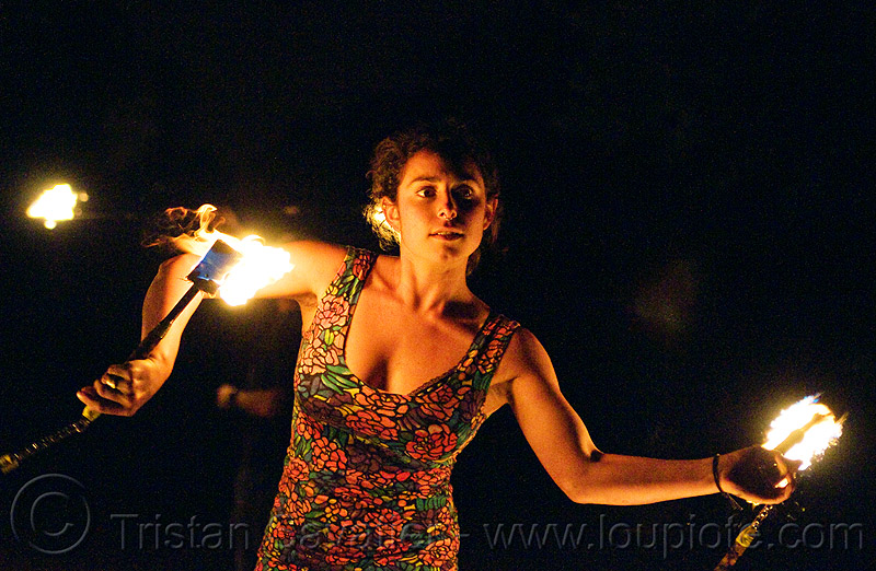 spinning fire nunchaku, fire dancer, fire dancing, fire nunchaku, fire performer, fire spinning, night, sarah, woman