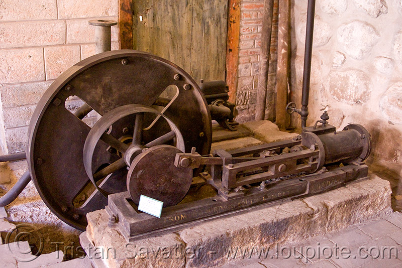stationary steam engine - casa de la moneda - potosi (bolivia), casa de la moneda, casa nacional de moneda, mint, minting, potosí, stationary steam engine