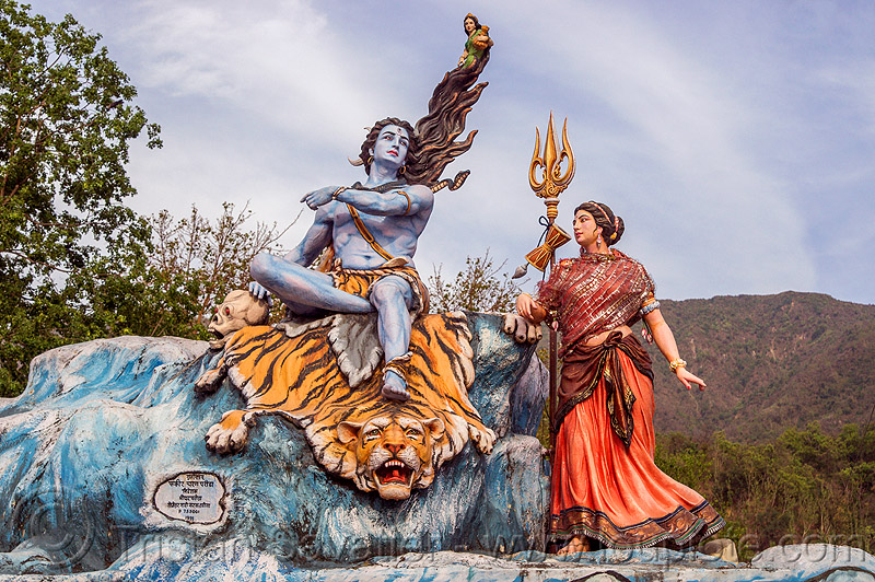 statue of shiva - rishikesh (india), ghats, hinduism, india, rishikesh, sculpture, shiva, statue