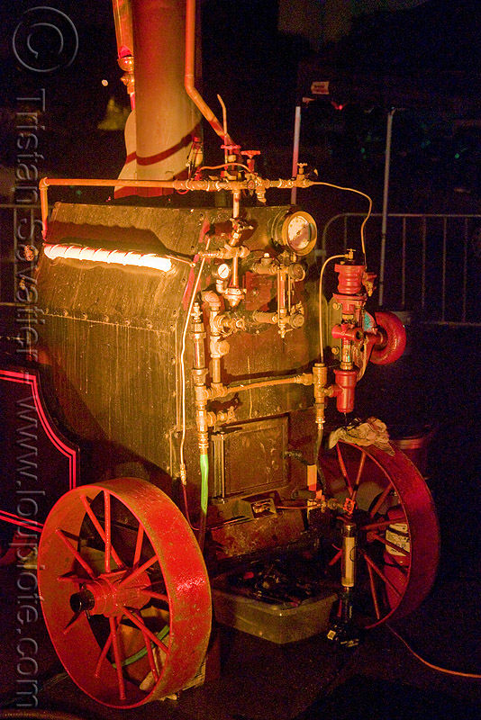 steam engine - ghostship halloween party on treasure island (san francisco) - space cowboys, ghostship 2008, halloween, rave party, space cowboys, steam engine