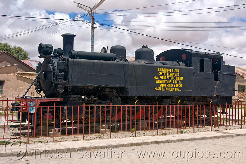 steam locomotive - railroad monument - uyuni (bolivia), enfe, fca, railway, steam engine, steam train engine