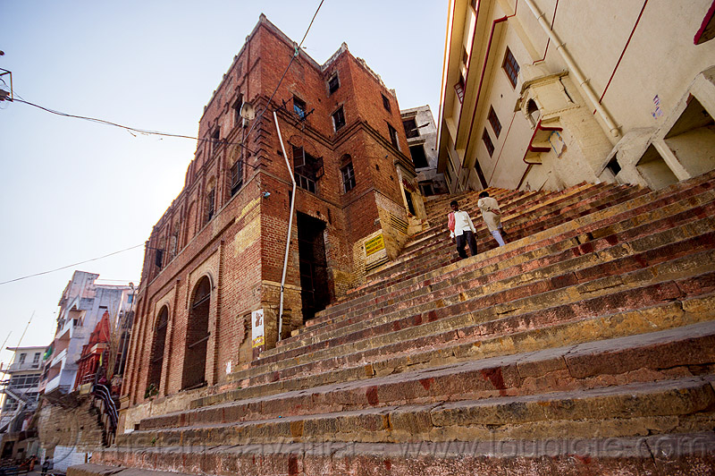 steep stairs street - varanasi (india), india, stairs, steep, steps, varanasi