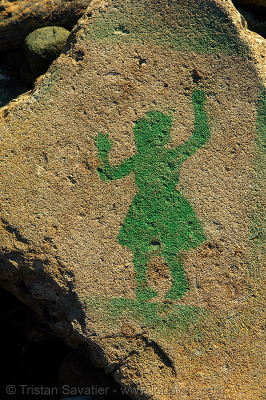 stencil graffiti (san francisco), girl, graffiti, green, lands end, stencil, street art