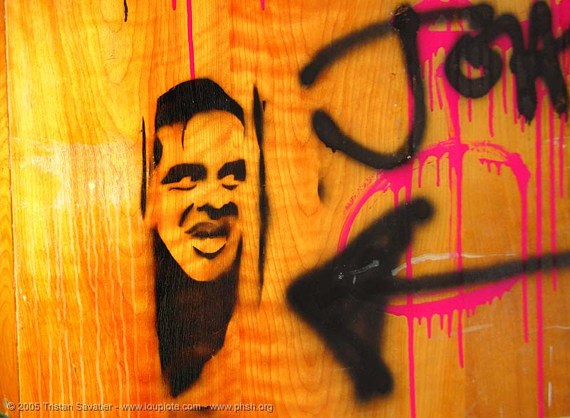 stencil-johnny - door - abandoned hospital (presidio, san francisco) - phsh, abandoned building, art, decay, graffiti, presidio hospital, presidio landmark apartments, the shining, trespassing, urban exploration