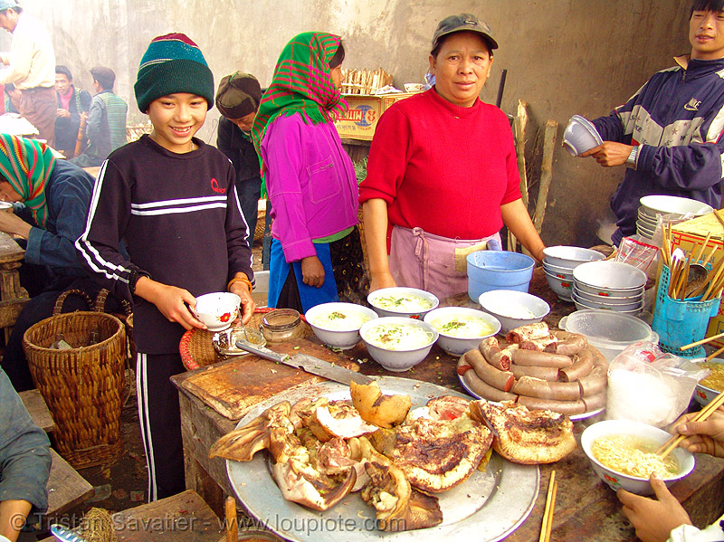 street food sellers - meo vac (vietnam), colorful, hill tribes, indigenous, mèo vạc, stall, street food, street sellers, vietnam
