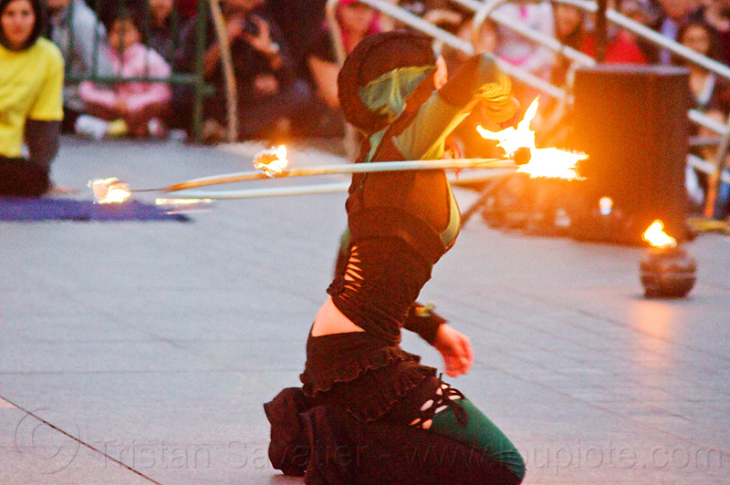 street performer with fire hoop, brittany, fire dancer, fire dancing expo, fire hoop, fire hula hoop, fire performer, fire spinning, night, spinning fire, temple of poi, woman