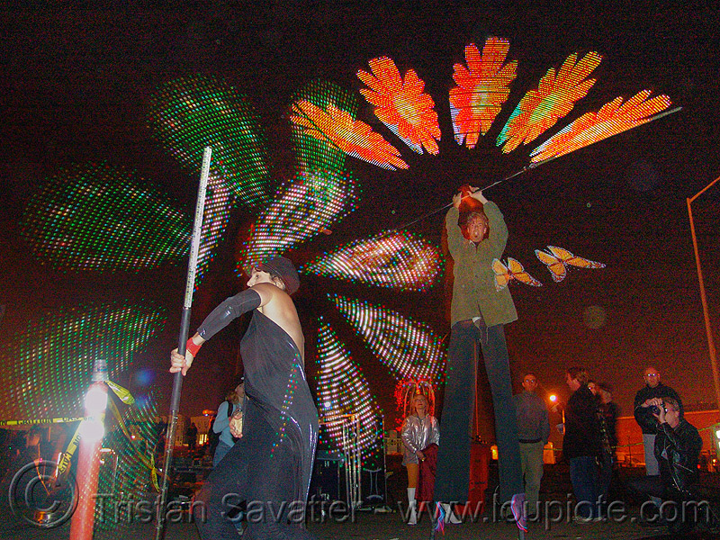 strobe LED staff, fire art, glowing, led lights, led staff, spinning staff