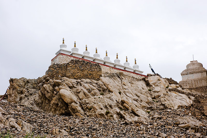 stupas - leh valley - ladakh (india), chortens, ladakh, leh valley, row, stupas