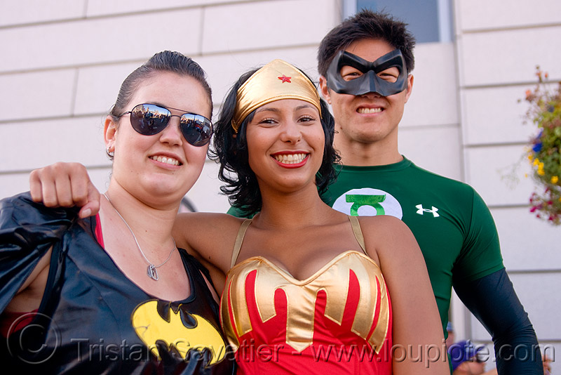 super hero costumes, costume, dorothy, gay pride festival, women, wonder woman