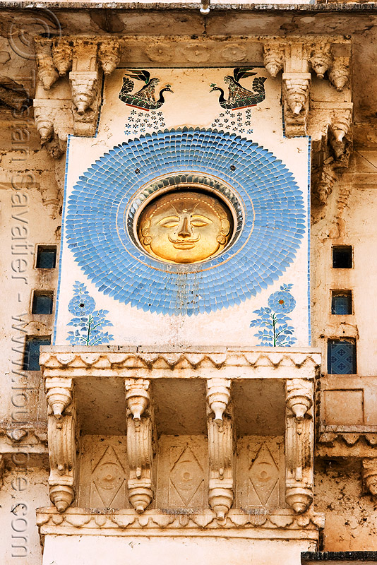 suryavanshi sun symbol on udaipur palace (india), blue, circle, decoration, disk, india, mosaic, palace, round, sculpture, solar, sun, symbol, symbolism, udaipur