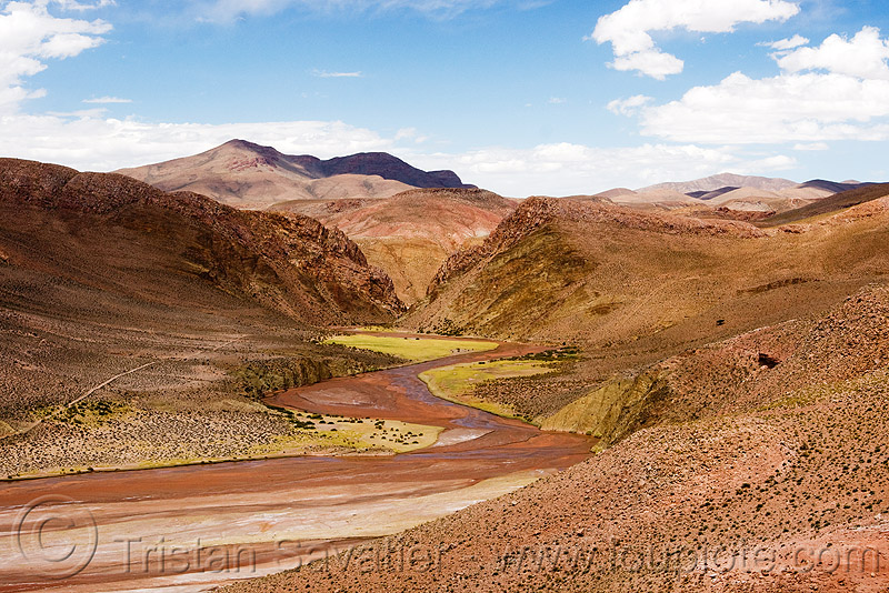 susques valley (argentina), desert, noroeste argentino, pampa, river