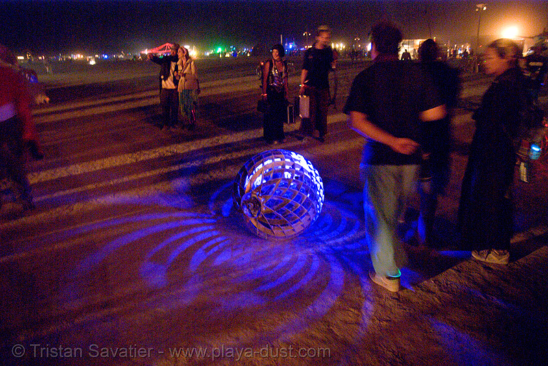 swarm - burning man 2007, art installation, burning man, glowing, night, spider, swarm