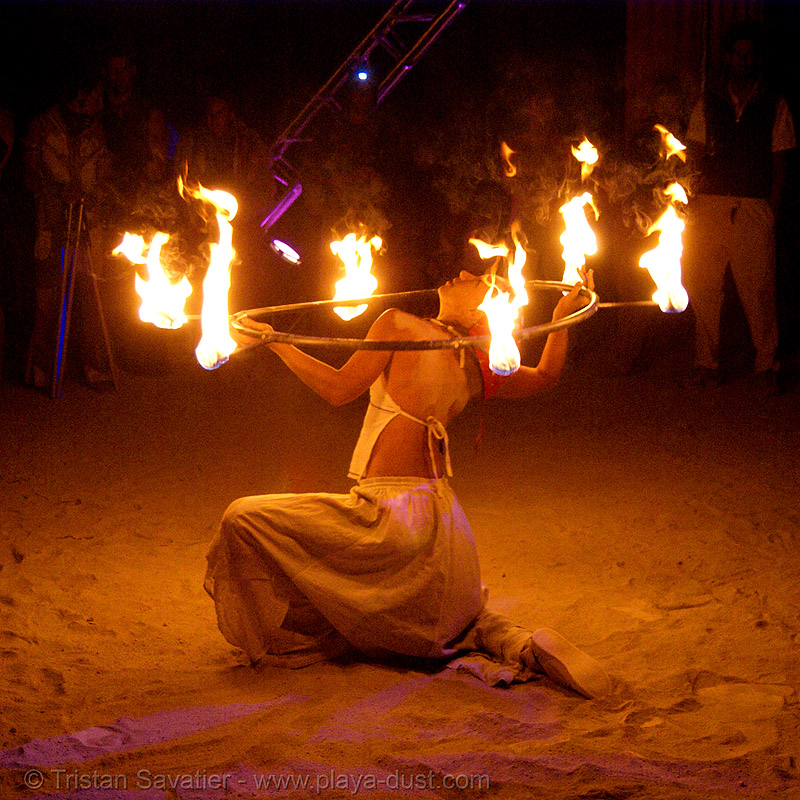 "tamara aka ""bliss"" - burning man 2007, burning man, fire dancer, fire dancing, fire performer, fire spinning, flames, night"
