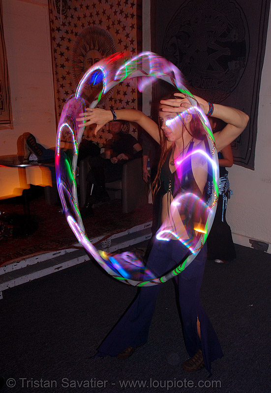 tamara with light hulahoop, glowing, hula hoop, hula hooping, led, led hoop, led hula hoop, led lights, led-light, light hoop, long exposure, night, people, spinning