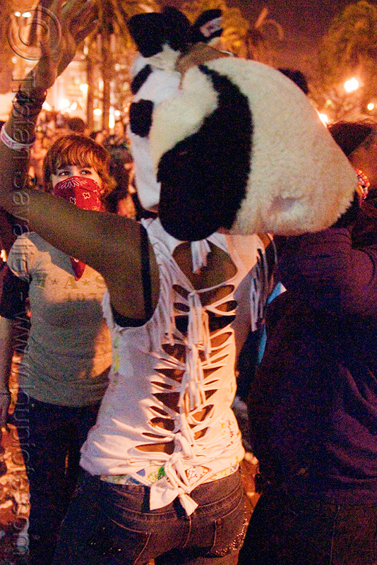 teenage girl at pillow fight, black woman, night, panda hat, pillow fight club, teen, teenager, world pillow fight day