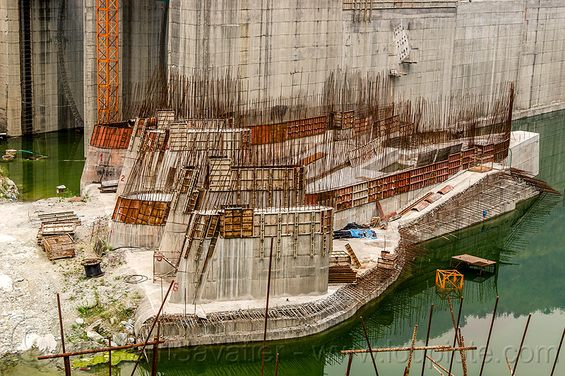 teesta river dam construction - lanco hydro power project - sikkim (india), concrete, construction, dam, formwork, hydro-electric, india, rebars, sikkim, teesta river, tista