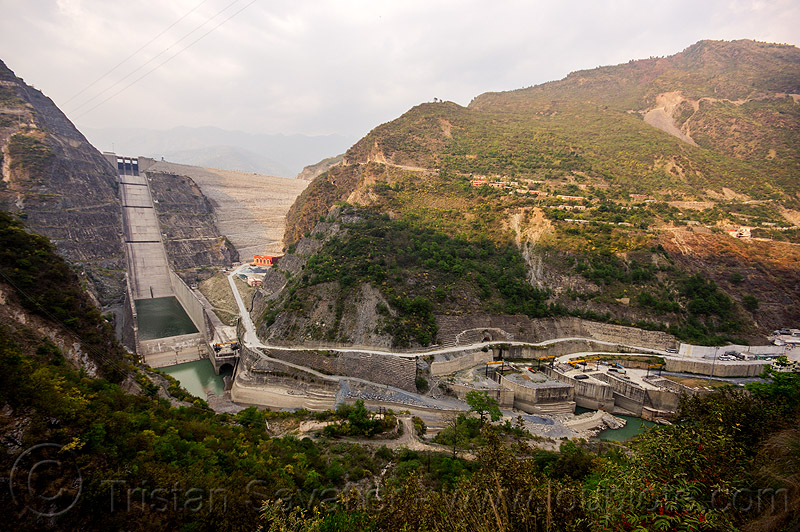 tehri dam - tehri hydro power project (india), bhagirathi, bhagirathi river, bhagirathi valley, hydro electric, infrastructure, water