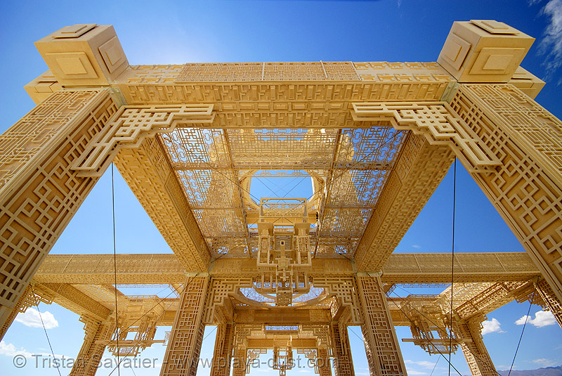 temple of forgiveness - burning man 2007, burning man, temple of forgiveness, wood carving