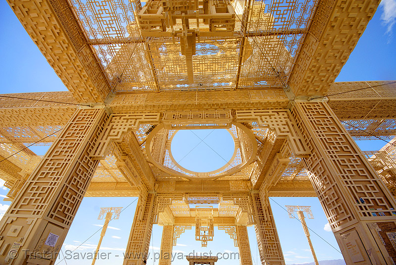 temple of forgiveness - burning man 2007, wood carvings