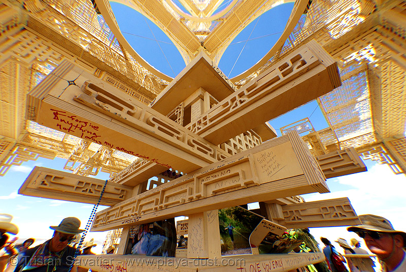temple of forgiveness - burning man 2007, perspective