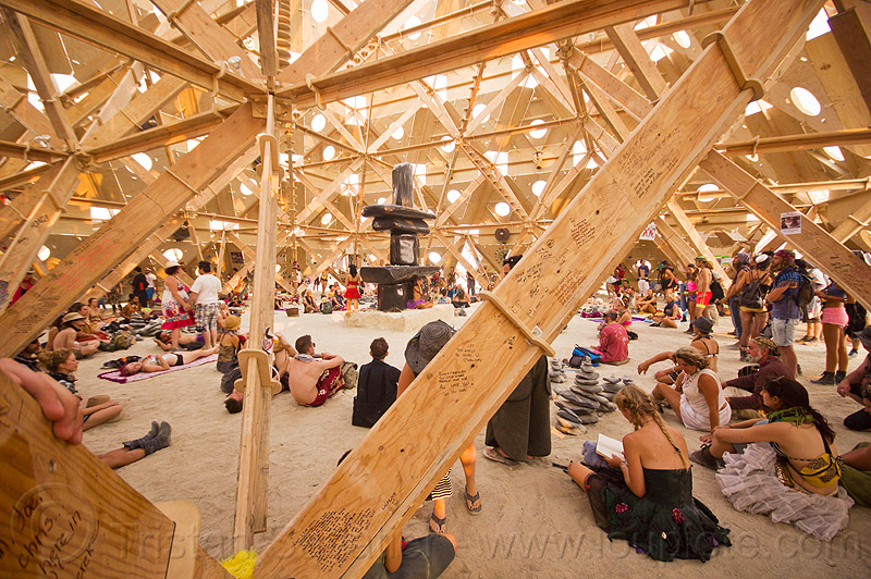 temple of whollyness - interior - burning man 2013