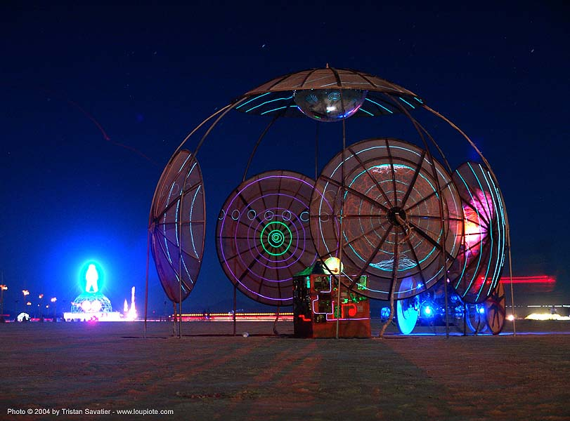 terrasphere-burning-man-2004, art installation, burning man, night, terrasphere