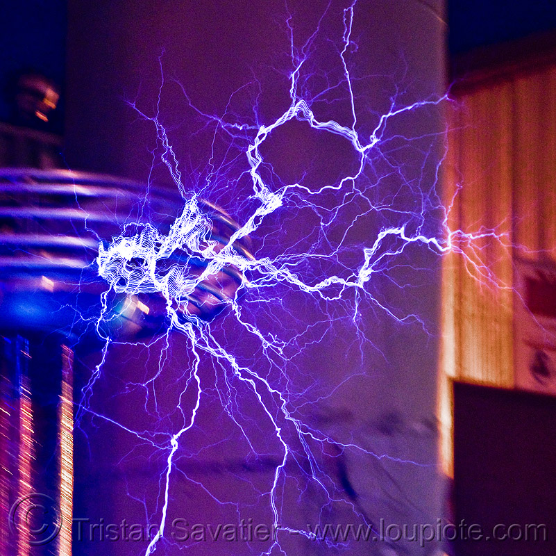 tesla coil, burning man decompression, electric arc, electric discharge, electricity, high voltage, lightnings, plasma filaments, tesla coil