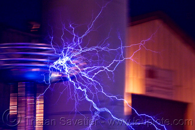 tesla coil - plama filaments, burning man decompression, electric arc, electric discharge, electricity, high voltage, lightnings, plasma filaments, tesla coil