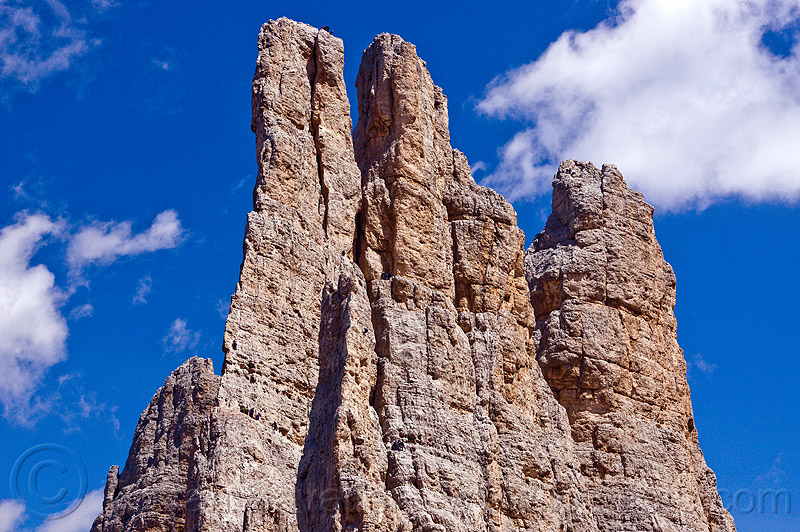 torri del vajolet - climbers on vertical cliffs - dolomites, abseiling, alps, cliff, climbing, dolomiti, mountain climbing, mountaineer, mountaineering, mountains, people, rappelling, rock climbing, summit