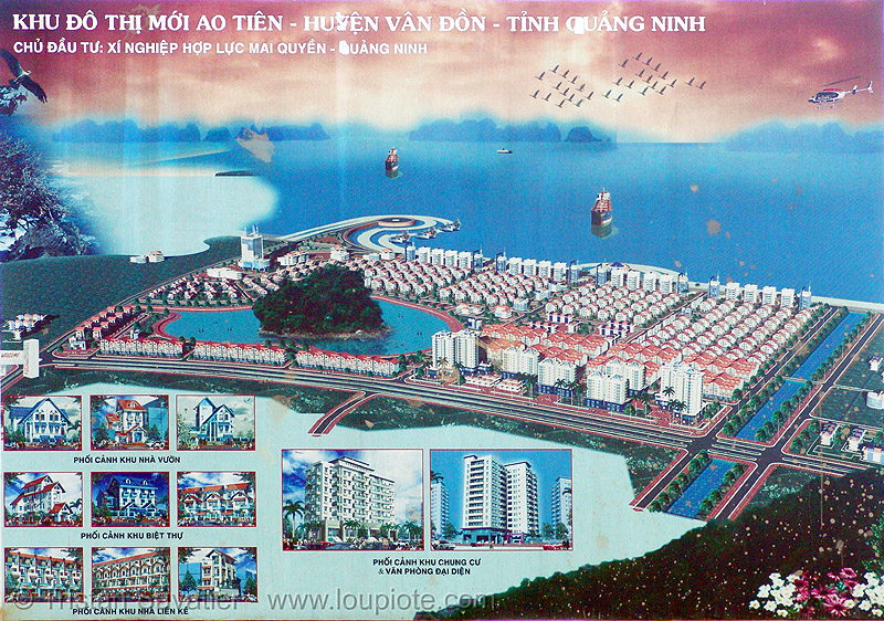 touristic urban development site - vietnam, sign, urban development, urban planning