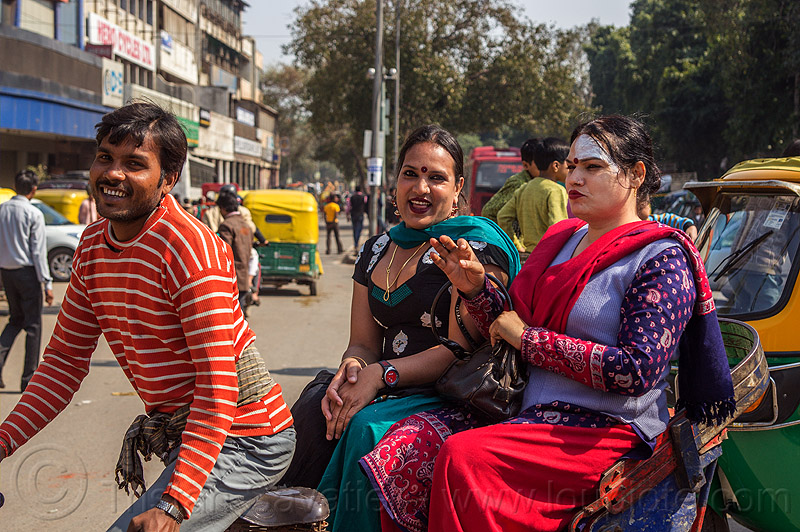 trans women (india), cycle rickshaw, delhi, m2f, man, people, street, transgenders, transsexuals, transwoman, transwomen