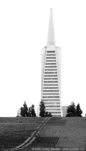 transamerica building (san francisco), architecture, high-rise, skyscraper, telegraph hill, tower, transamerica building, transamerica pyramid