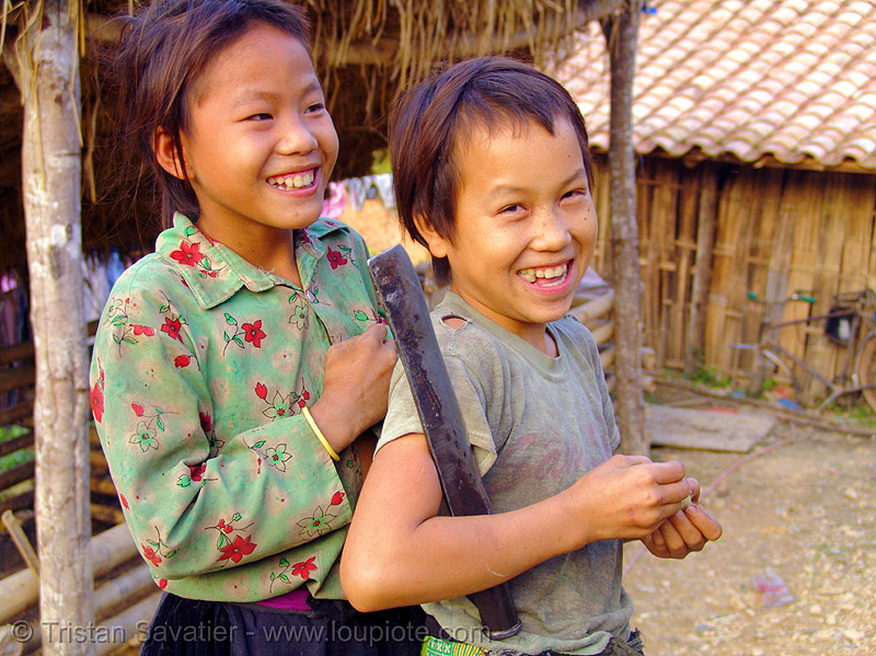 tribe kids - vietnam, children, green hmong, hill tribes, hmong tribe, indigenous, people, tribe girl