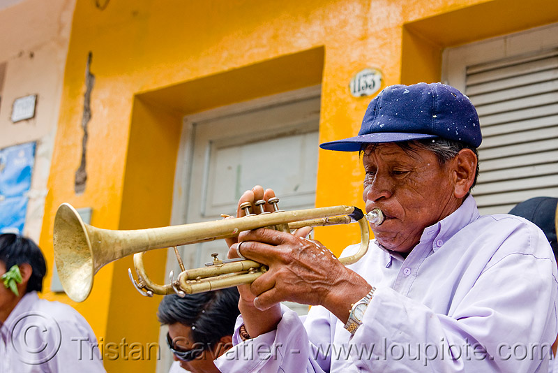 trumpet player, andean carnival, carnaval, jujuy capital, man, noroeste argentino, people, san salvador de jujuy