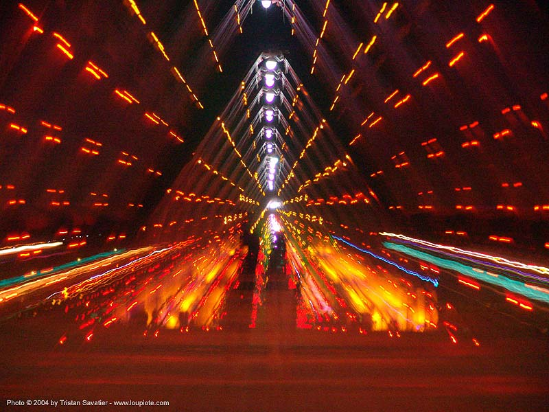 tunnel of light - burning-man 2004, art installation, burning man, night
