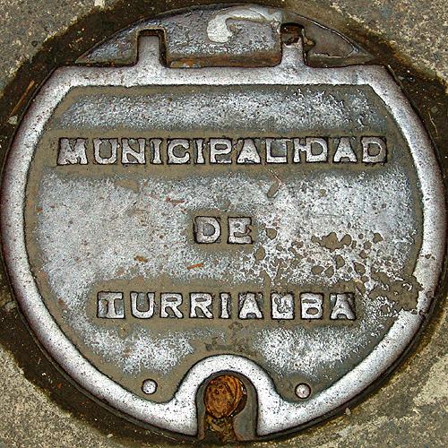 turrialba - metal plate, cast iron, costa rica, metal plate, municipalidad de turrialba