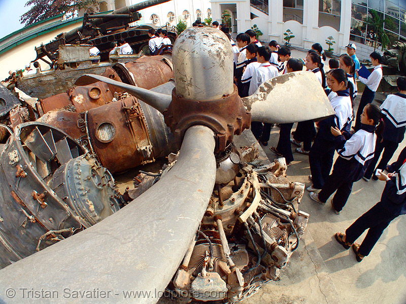 twisted plane propeller - vietnam, aircraft, army museum, bent, crashed, debris, fisheye, hanoi, metal, military, pieces, plane propeller, shot down, twisted, vietnam war, warplane, wreck, wreckage