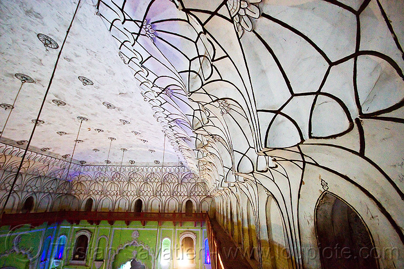 vaults - ceiling of the bara imambara in lucknow (india), architecture, asafi imambara, bara imambara, ceiling, india, islam, lucknow, monument, shia shrine