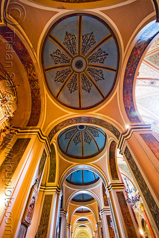 vaults perspective - salta cathedral (argentina), argentina, baroque, cathedral, ceiling, church, domes, noroeste argentino, perspectibe, salta capital, vaults