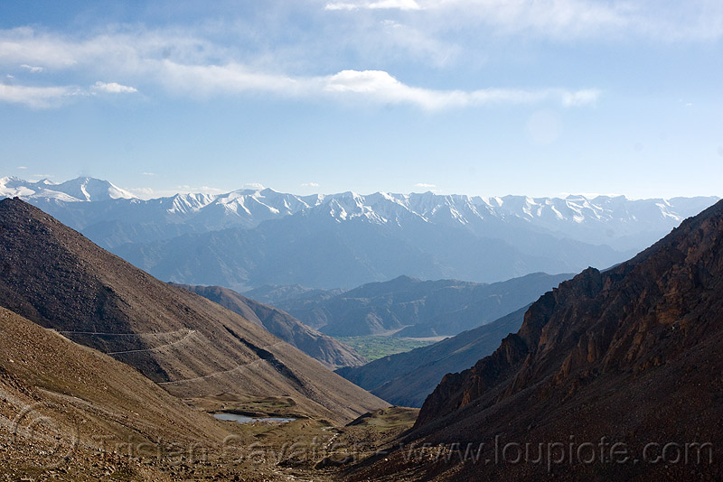 view from chang-la pass - ladakh (india), chang pass, chang-la pass, ladakh, mountains