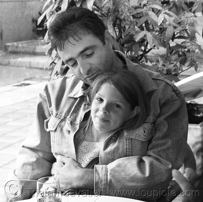 vratcha - dad and kid (bulgaria), child, daughter, father, girl, little girl, man, people, sitting, vratsa, българия, враца