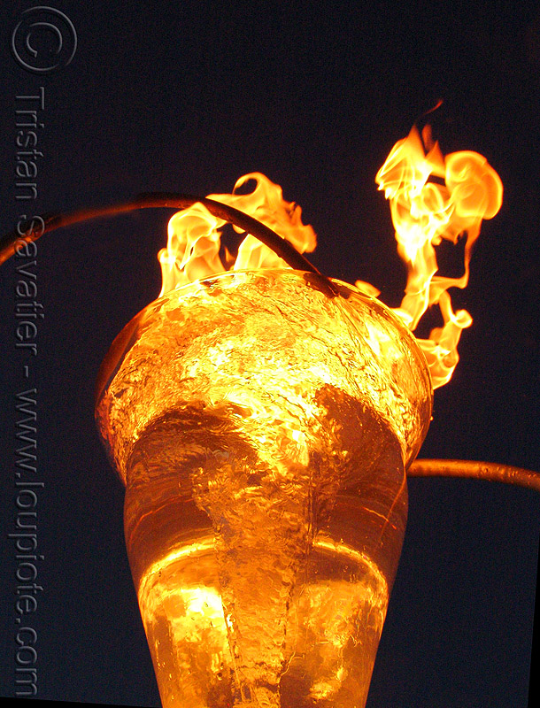 water and fire, art, burning, echevaria, fire art, fire arts festival, flames, orion fredericks, the crucible, therm