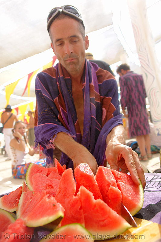 watermelon - burning-man 2006, burning man, people