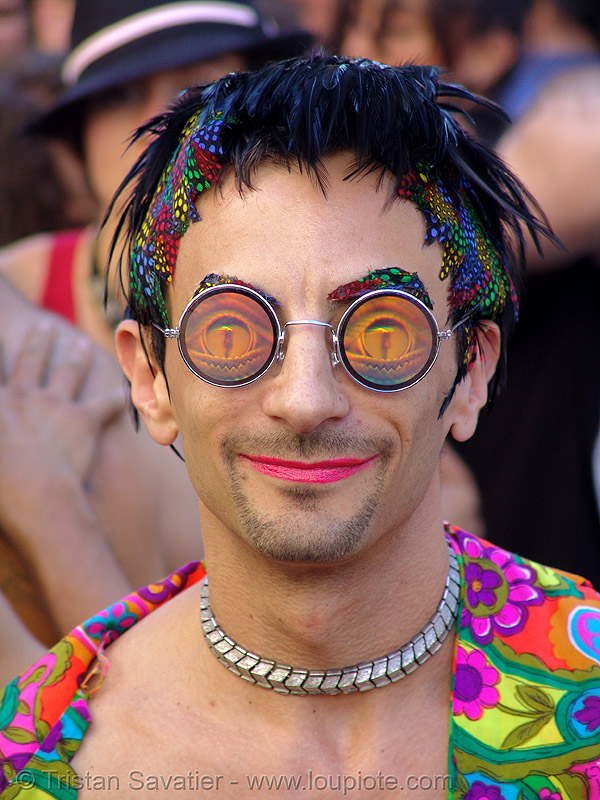 weird man (san francisco), eyeglasses, eyewear, hologram glasses, how weird festival, man, round glasses, spectacles