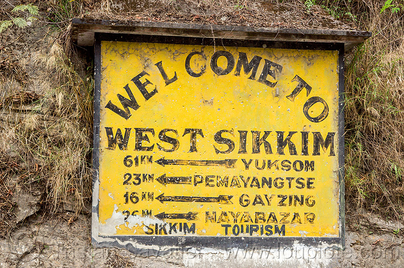 welcome to west sikkim - road sign (india), road sign, sikkim, wall, welcome