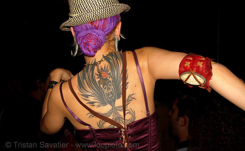 wendy darling - back tattoo (san francisco), art, backpiece, bohemian carnival, people, skin, tattooed, tattoos