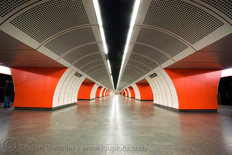 westbahnhof subway station (vienna), infrastructure, metro, metro station, symmetrical, tunnel, underground station, wien