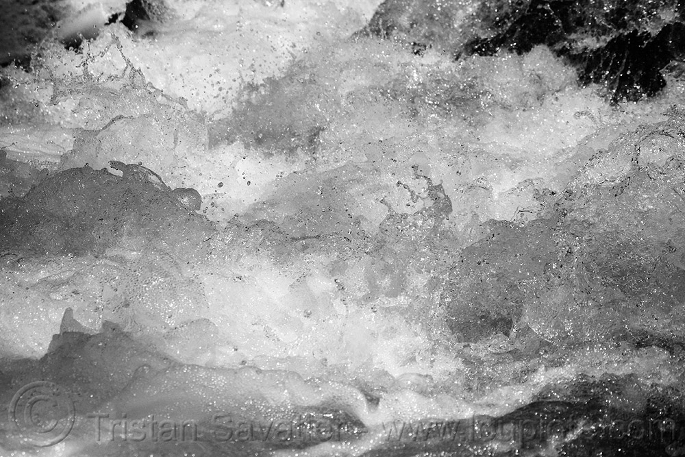 whitewater in mountain creek, close-up, creek, droplets, raging water, river, whitewater, winter, yosemite national park