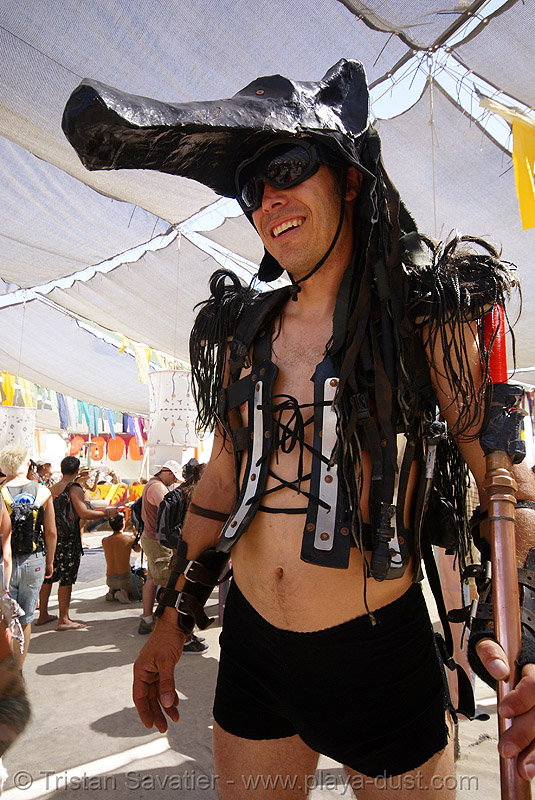 wolf beast (DJ wolfie) - burning man 2007, burning man, dj wolfie, pan, wolf beast